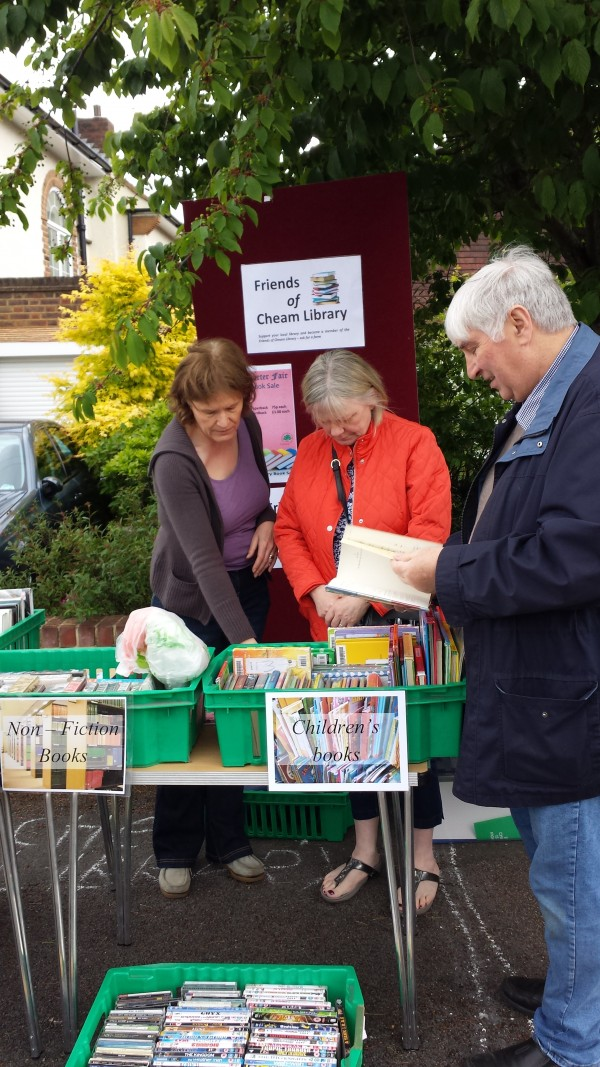 Thank you for supporting Friends of Cheam Library at Cheam Charter Fair