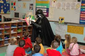 Darth reads storytime