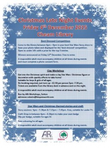 Late Night Shopping events at Cheam Library