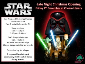 cheam library late night opening FULL star wars