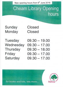 cheamlibrary hours jun16